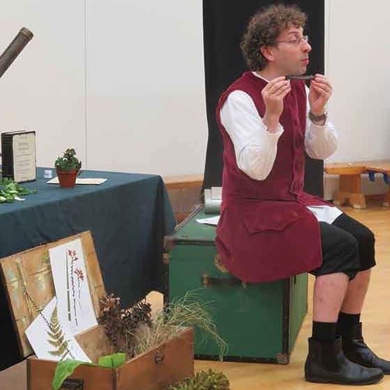(An actor playing) Linnaeus.