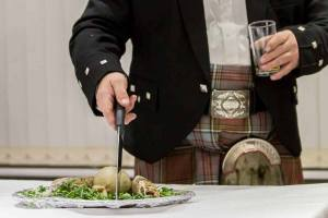 Scotsman wi' haggis