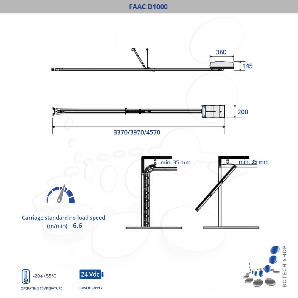 FAAC D600 Motor para puertas de garaje (Kit)