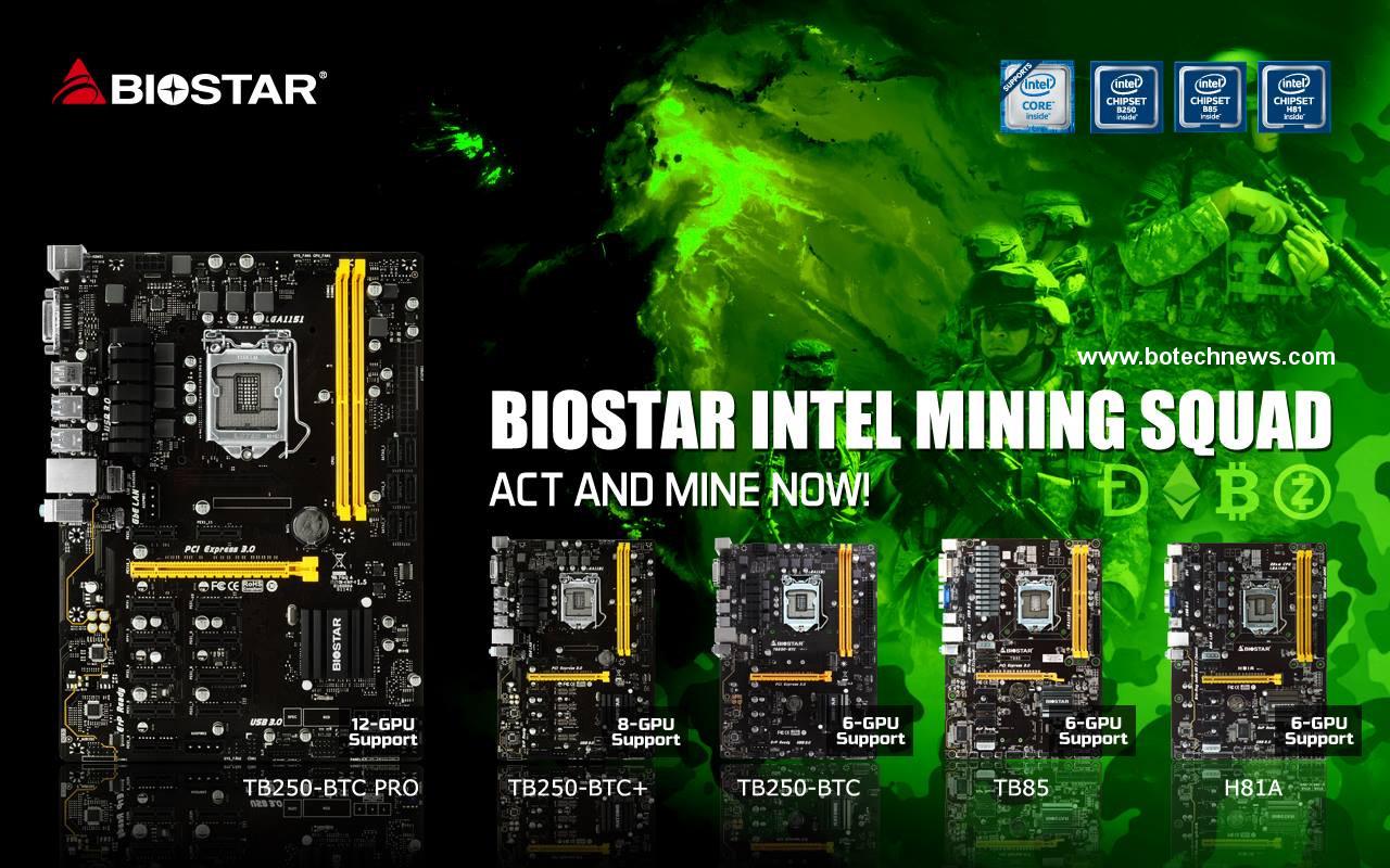 Biostar Simplifica El Minado De Criptomonedas Con Motherboards Motherboard Tb250 Btc Lga 1151 Bitcoin Mining Basadas En Ethos Botech News