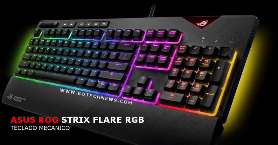 81c0ff6a834c ASUS anuncia teclado mecánico ROG Strix Flare RGB, no dejará que quites el  dedo del gatillo