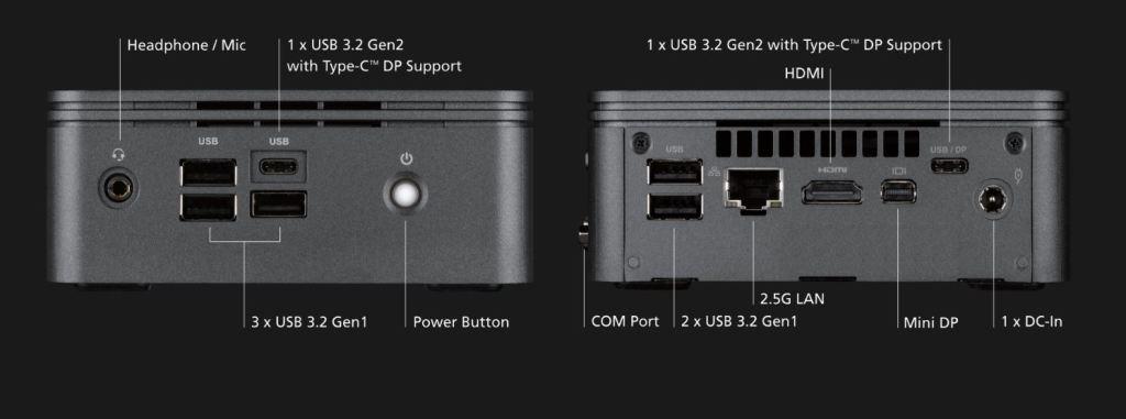 GIGABYTE BRIX S AMD RyZEN 4000 Mobile Renoir Conectividad