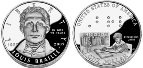 moeda em braille
