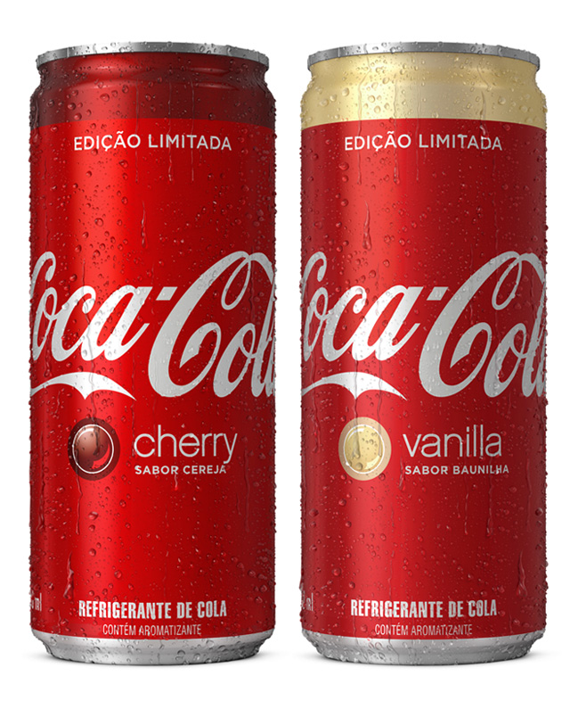 Coca Cola - embalagem sabores Cherry e Vanilla