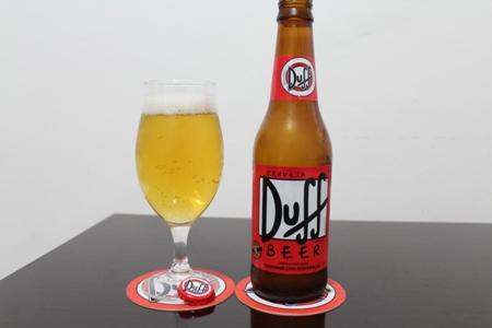 Duff servida na taça.