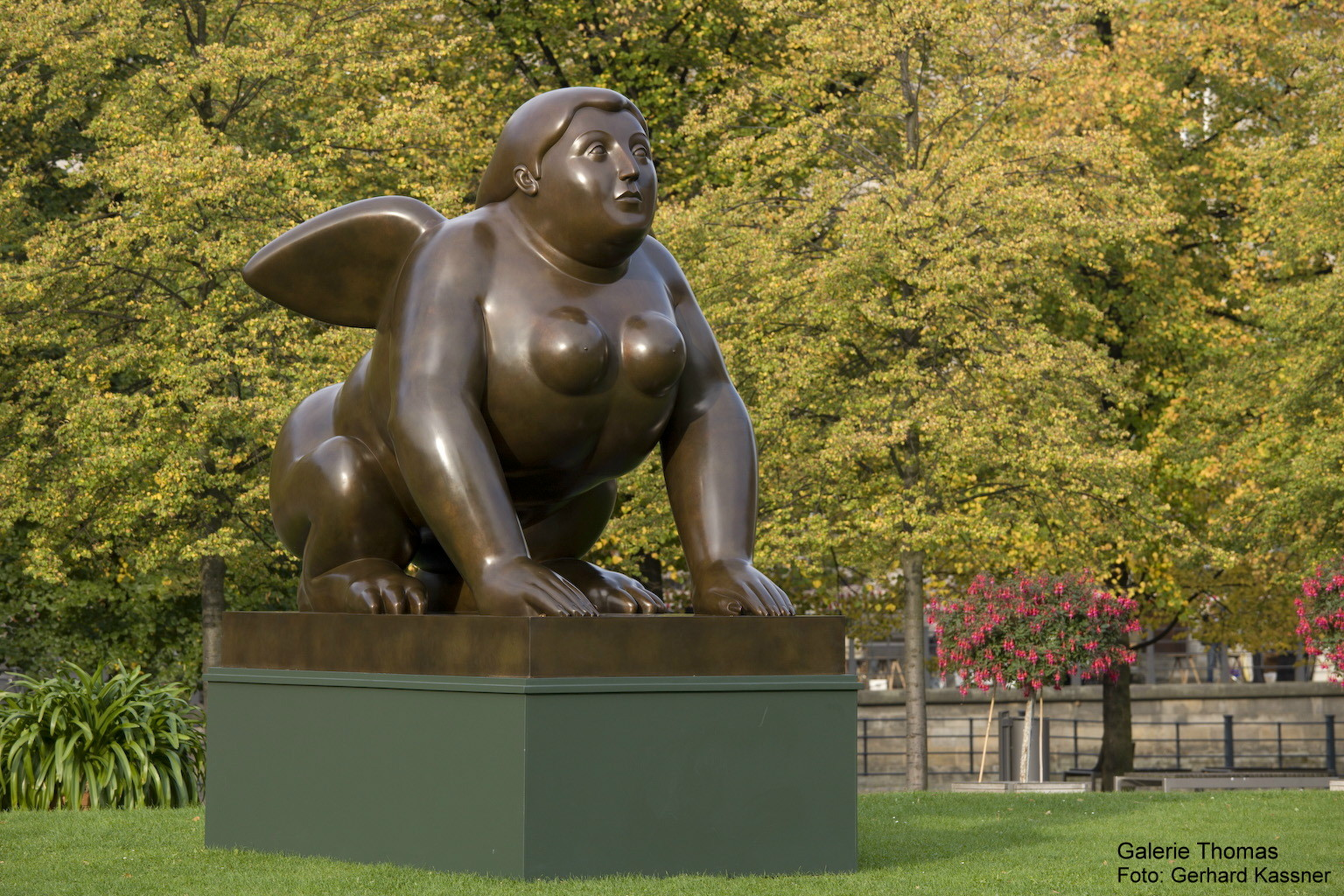 Botero's Sphinx, exhibited in Berlin