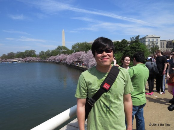 Me at the National Cherry Blossom Festival.