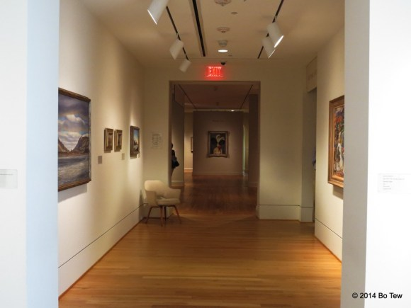 A corridor at The Phillips Collection.