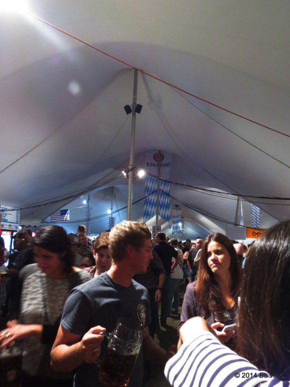 Inside the main tent.