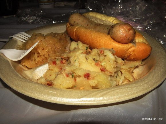 """German"" food @ Delaware Saengerbund Oktoberfest. To be fair, the veal sausage is good."