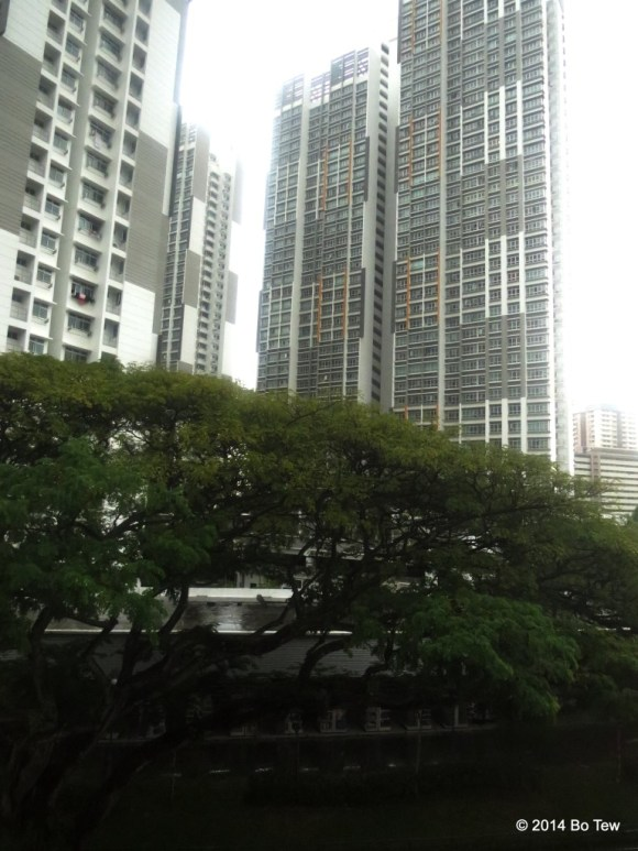 You can easily distinguish the more luxirious condominiums. Singapore.