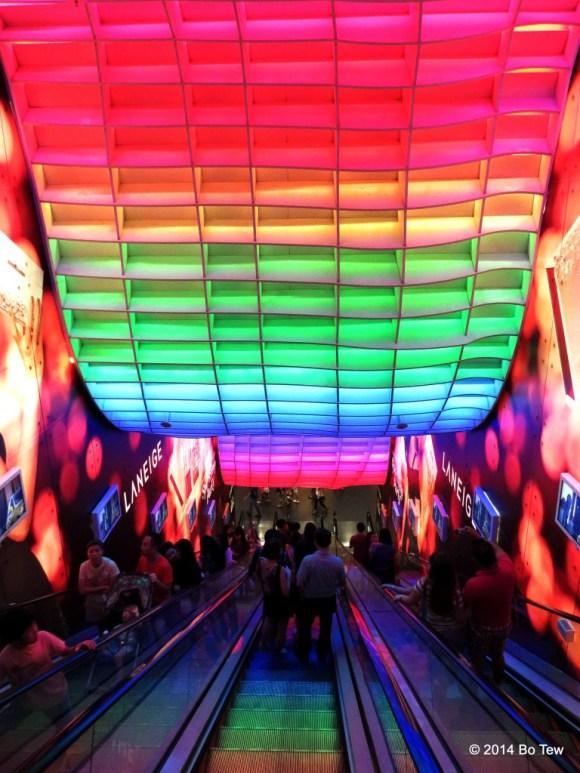 Indoor Rainbow. Ion Orchard, Singapore.