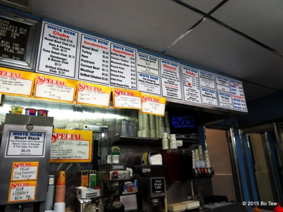 Look at that extensive menu.