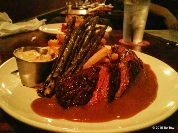 Two Stones Pub's Grilled Hanger Steak (Daily Special).
