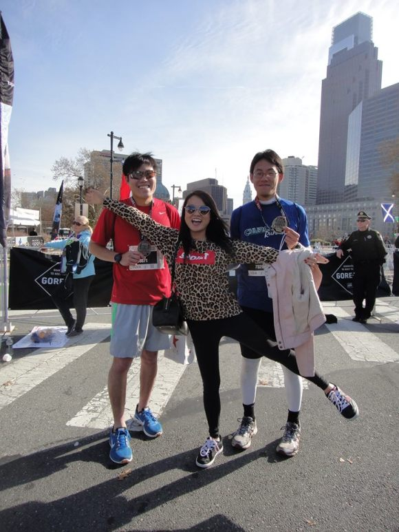 DP, Meixi and me after the race.