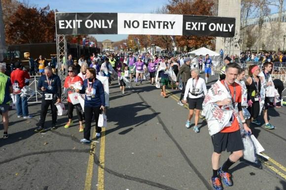 I really hate the one way traffic.  (c) 2014 GORE-TEX® Philadelphia Marathon