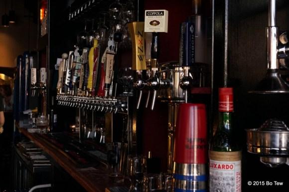 On tap are a bunch of beers and even a couple of wines.