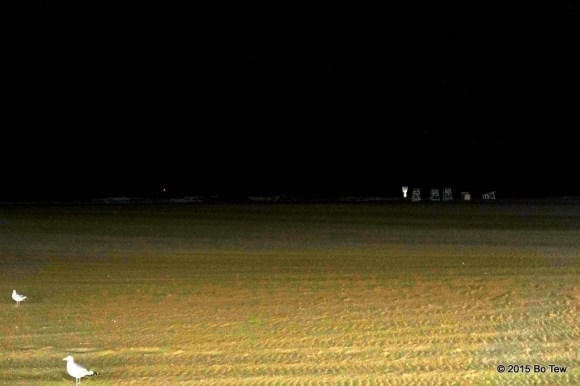 Nobody was on the beach this late.