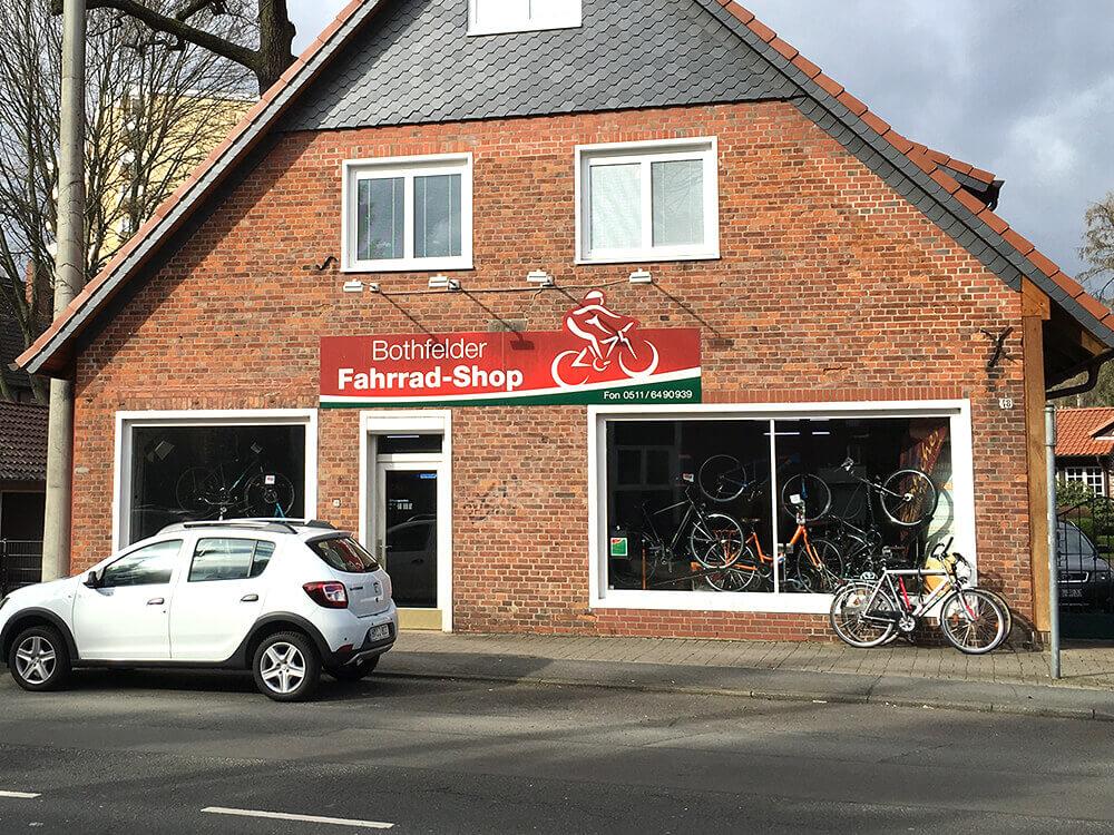 Bothfelder Fahrrad-Shop von außen