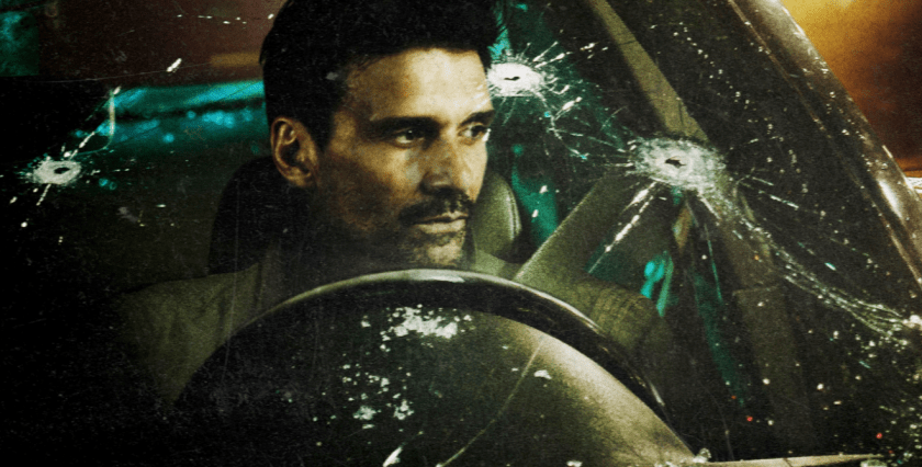 Frank Grillo driving an E46 BMW in Wheelman