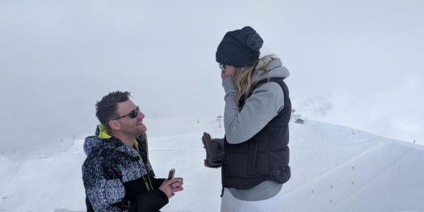 Aron Heartfield proposes to Hannah Gee