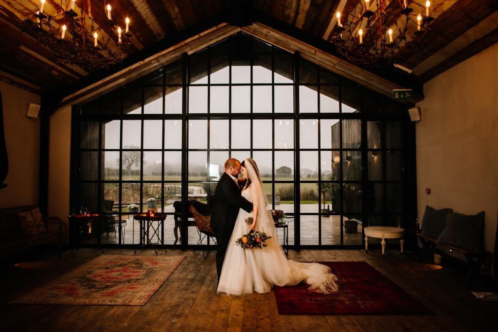 Lucy and Jan wedding at The Barn at Botley Hill, Surrey (Photo: Fresh Shoot Studios)