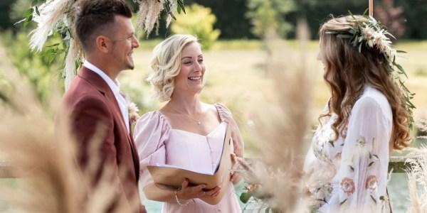 Rose & Grace Ceremonies - Natalie Davies - Botley Hill Barn, Surrey