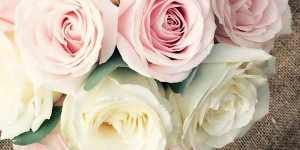 Pink and white wedding bouquet - Flowers by Georgia