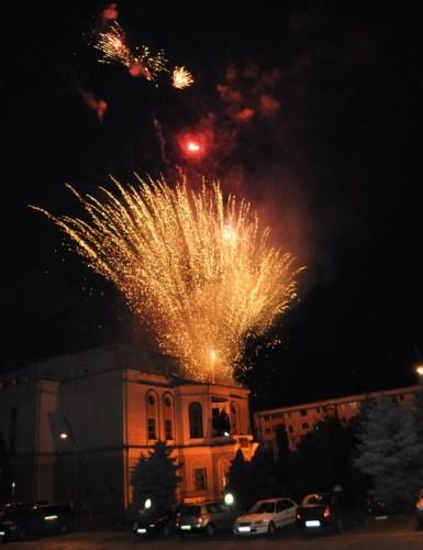 foc artificii de pe Teatrul Mihai Eminescu
