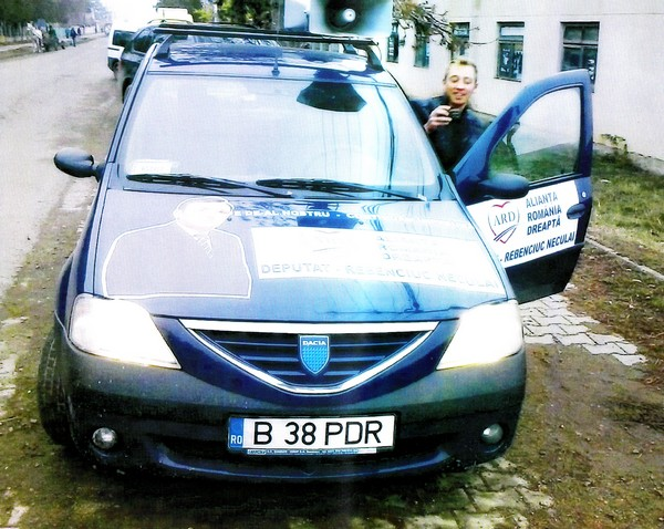 masina deputatului Neculai Rebenciuc, proprietatea Camerei Deputaţilor