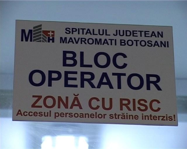 bloc operator zona cu risc Spitalul Judetean Botosani