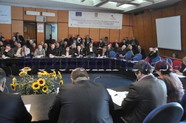 sedinta cu primarii pentru repartizarea banilor din Botosani