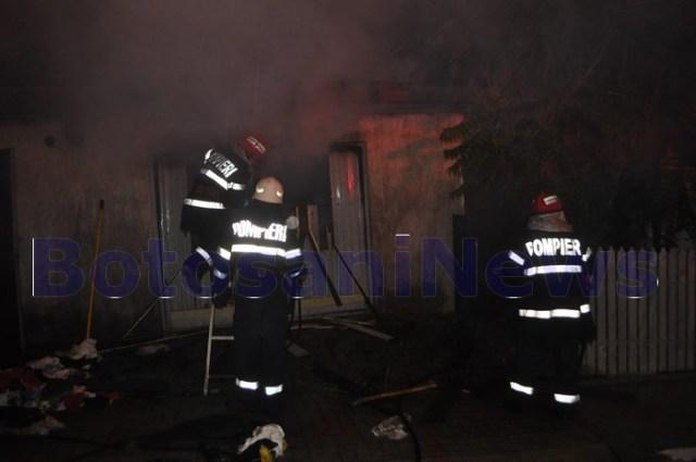 incendiu pe strada petru rares din Botosani