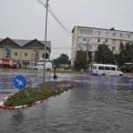 Inundatii pe Imparat Traian, la intersectie cu Octav Onicescu Botosani