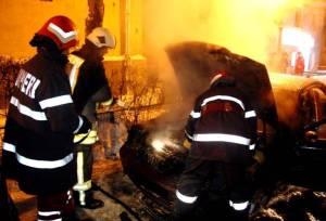 incendiu de masina noaptea, stiri, botosani