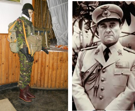 Expozitie dedicata parasutistilor militari la Botosani