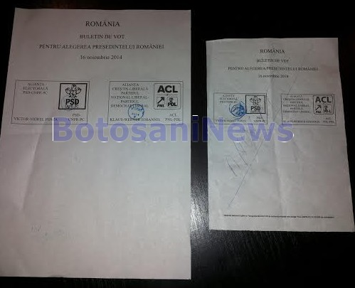 Buletine de vot anulate la prezidentiale- Botosani