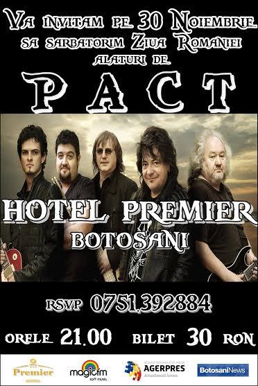 Trupa Pact la Hotel Premier Botosani