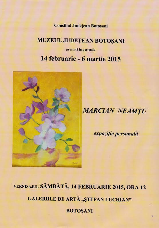 expozitie Marcian Neamtu la Botosani