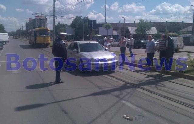accident pe trecerea de pietoni din zona Stadionului Municipal Botosani