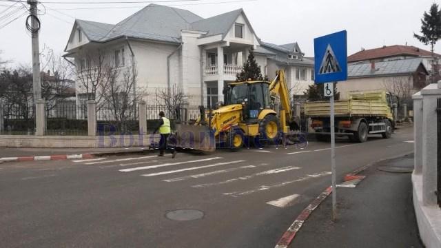 lucrari sens giratoriu Bulevardul Mihai Eminescu- Petru Rares- Botosani