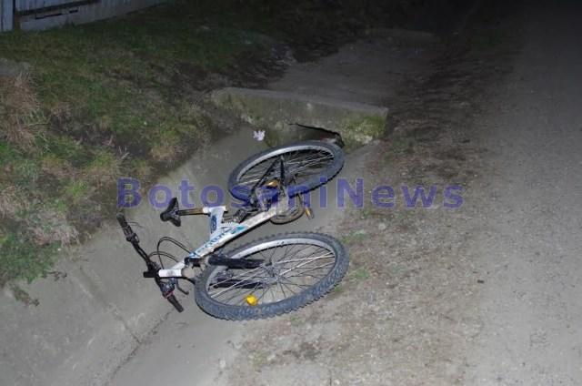 poza bicicleta in sant la Vaculesti-accident- Botosani