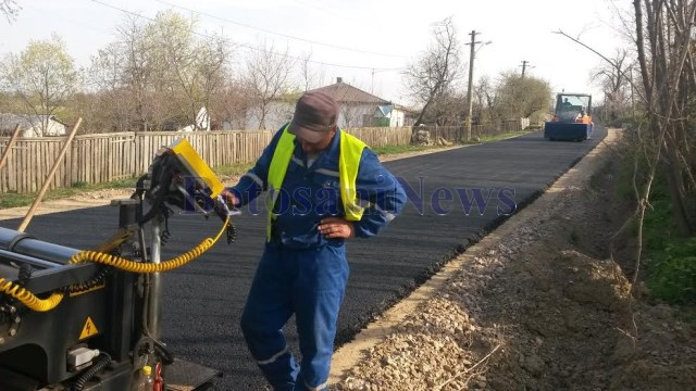 asfaltare drum Manastirea Doamnei- Curtesti- Botosaniv