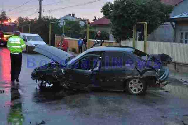 accident BMW strada Colonel Vasiliu- Dorohoi
