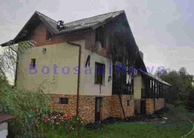 incendiu vila manastirea doamnei- botosani