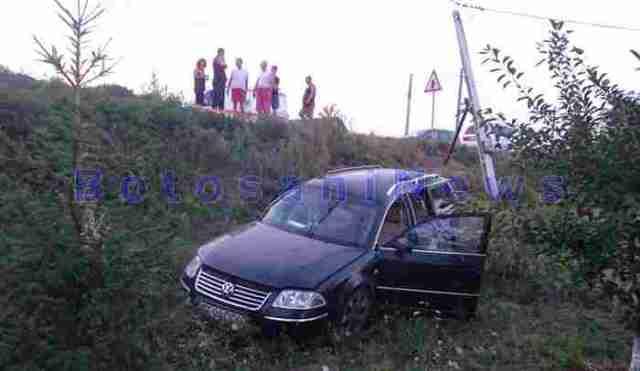 accident baisa masina pe camp - Botosani