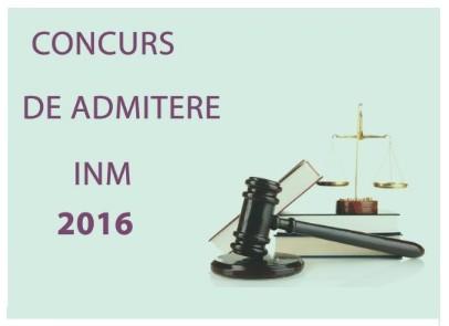 admitere magistratura 2016