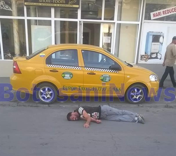 barbat beat cazut in strada- Botosani