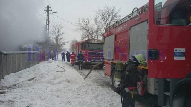 pompieri, incendiu, casa, stiri, botosani