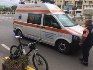 bicicleta accident ambulanta